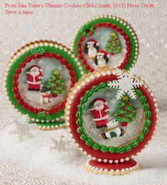 christmas 3d cookies | 3D Christmas Globes