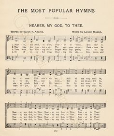 1.99 - Nearer My God To Thee digital download by GospelHymns on Etsy