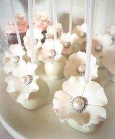 Wedding cake pops by Niknaks Sweetest Treats