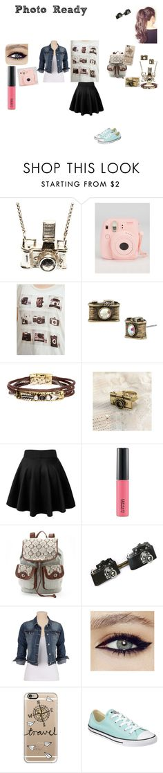 """""""Photography Lover"""" by princessboogs ❤ liked on Polyvore featuring Kiel Mead Studio, Fujifilm, Forever 21, Betsey Johnson, MAC Cosmetics, maurices, Casetify and Converse"""