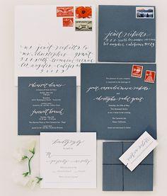 Wedding invitations: A Romantic Napa Wedding. #Celebstylewed #Bridal #Grey. @Celebstylewed