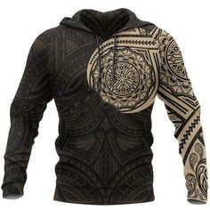 Polynesian Hoodie - Polynesian Flowers Tattoo Style Hoodie A7 1ST – Polynesian Print Flower Tattoos, Hand Tattoos, Polynesian Designs, Custom Made, Motorcycle Jacket, Print Design, Men Sweater, Just For You, Leather Jacket