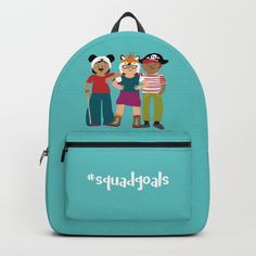 Squad Goals Backpacks by Ayelet Bar-Noy :: ReadyMake Studio. Worldwide shipping available at Society6.com. Just one of millions of high quality products available.