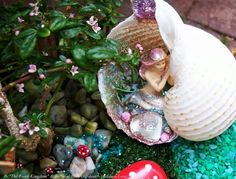 Mermaid Gardens Magical projects you can make in an afternoon! Beach Fairy Garden, Fairy Garden Houses, Fairy Gardening, Fairies Garden, Garden Pests, Indoor Gardening, Organic Gardening, Container Gardening, Mermaid Lagoon