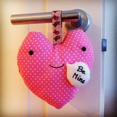 Heart hanging pillow by Tamago Craft