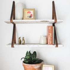 Gracie Oaks Oldbury Naite Floating Shelf in Shabby White/Gray Solid Wood Handmade Rustic Style Wall Shelf Wooden Floating Shelves, Reclaimed Wood Shelves, Solid Wood Shelves, Wood Wall Shelf, Glass Shelves, White Wall Shelves, Wall Mirror, Leather Strap Shelves, Style