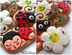 Flower Ladybug Cookies