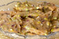 Pistachio Brittle, originally published in Food & Wine by Tina Ujlaki. Pinned from Erin Cooks. Scratch, stovetop.