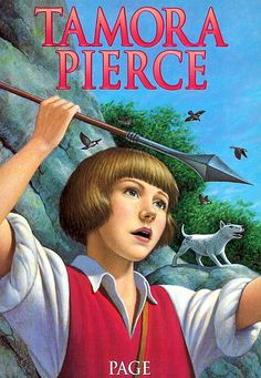 """""""Page"""" Book Two of the """"Protector of the Small"""" tetralogy. By Tamora Pierce. 2001 Scholastic cover."""
