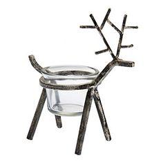 Aslak reindeer candle holder by Pentik. Height 16cm. 8,50e.