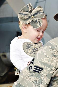 Proud Military Bow and Headband Only by HeavenlyGiggles on Etsy, $7.00