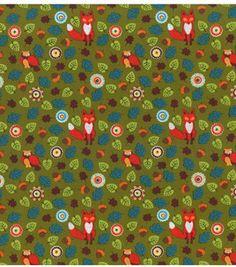 Fox & leaf pattern on clearance (09.2013) @ Joann Fabric