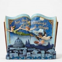 Jim Shore Off to Neverland - Peter Pan Storybook Figurine (Disney Traditions)