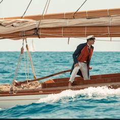 Pierre Casiraghi on the classic yacht Tuiga- Yacht Club de Monaco