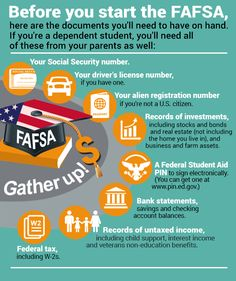 Make the most of your FAFSA application.....Before you start the FAFSA, here are the documents you'll need to have on hand. © /Shutterstock.com