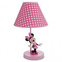 Disney Minnie Mouse Lamp for Baby Minnie Mouse Room Decor, Minnie Mouse Nursery, Mickey Mouse, Girl Nursery, Girl Room, Baby Room, Disney Babys, Baby Disney, Disney Bedrooms