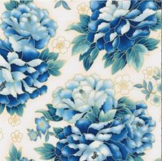 Robert Kaufman 'Imperial Collection 10' Large Blue Peonies on White Cotton Fabric By the Yard Robert Kaufman http://www.amazon.com/dp/B00KKC6Q24/ref=cm_sw_r_pi_dp_kBx1tb1R7K6HD2RS