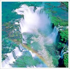 This is Iguacu Falls on the border between Brazil and Argentina.