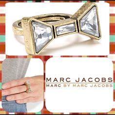 ✨🎀Marc by Marc Jacobs bow ring✨🎀 Gorgeous ring by Marc Jacobs! Only worn twice and then i bought the tan one! {{prices always negotiable}} ❤ Marc by Marc Jacobs Jewelry Rings