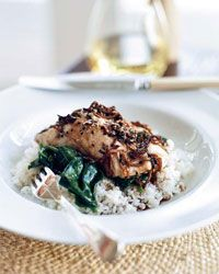 Halibut with Soy-Ginger Dressing Recipe on Food & Wine Annabel Langbein returns again and again to this savory, Asian-accented dish. The key is selecting dense, thick fillets of the freshest fish, so they stay moist throughout cooking.