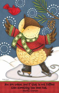 Christmas Owls, Owl Art, Cute Baby Animals, Quilting Designs, Art Forms, Painted Rocks, Winter Wonderland, Fabric Design, Cute Babies