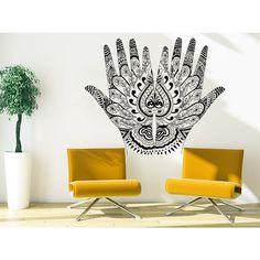Henna Mehndi Hands Arabic Bahraini Henna Wall Art Sticker Decal