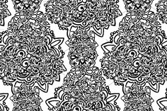 Monochrome abstract seamless pattern by Art By Silmairel on @creativemarket