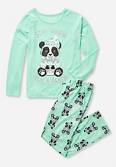 Panda Hug Pajama Set