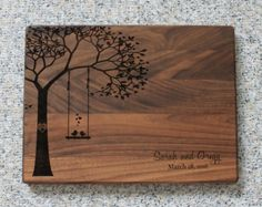 Wedding Gift Personalized Cutting Board por EngrainedMemories