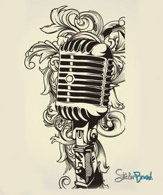 Vinyl Wall Decal Sticker Music Microphone MIC from StickerBrand. Saved to Wandkunst. Music Tattoo Designs, Music Tattoos, Tatoos, Wall Decal Sticker, Wall Stickers, Wall Vinyl, Tatoo Musical, Blackwork, Pop Rock