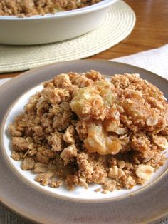 Peanut Butter Caramel Apple Crisp #vegan
