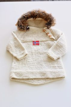Lilllemy - made with love ♥: Oslo-anorakk med pels Knitting For Kids, Baby Knitting, Oslo, Knitting Patterns, Baby Kids, Fur Coat, Sewing, Crochet, Jackets