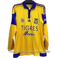 Nuova maglie calcio 2016 per maglia Home Tigres UANL 2016 manica lunga