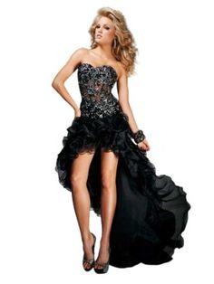 Black, High Low Dress 11308 by Tony Bowls  Sale:$498.00