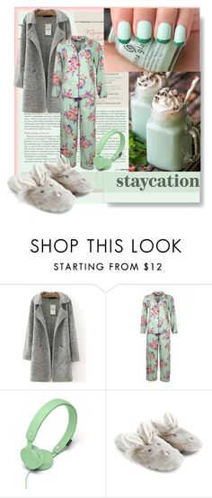"""""""mint"""" by aimbilal ❤ liked on Polyvore featuring China Glaze, Cyberjammies, Urbanears, Accessorize and staycation"""