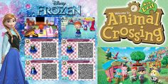 Frozen Animal Crossing New Leaf Outfit QR Codes!