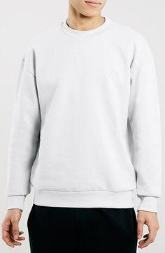 Men's Topman Oversize Sport Crewneck Sweatshirt