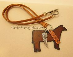 Guardian Angel Show Steer Necklace FFA Tag Cowgirl by FLcowgirls, $24.98