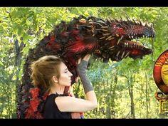 No Robotics Wood Splitter Lee Cross Original Dragon Puppet! Fantasy Creatures, Mythical Creatures, Mythological Creatures, Soft Sculpture, Sculptures, Wood Splitter Lee, Lee Cross, Dragon Project, Puppet Costume