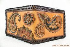 Paisley Leder Geldbörse Brieftasche Geldbeutel von ARCHERIA auf Etsy