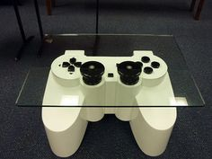 PlayStation controller coffee table (for my husband)