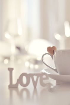 ♔ Love and tea I Love Coffee, Coffee Break, My Coffee, Lamentations, Love Wallpaper, Coffee Cafe, Love Heart, Heart Knot, Happy Valentines Day