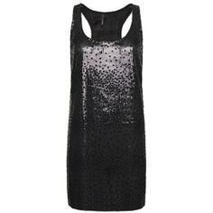 Velvet Sequins Dress ($73) ❤ liked on Polyvore