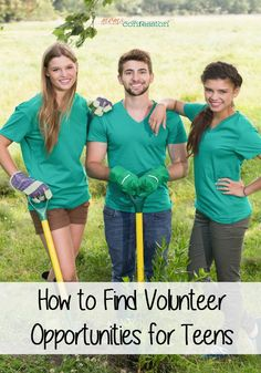 to Find Volunteer Opportunities for Teens Check out these tips for finding volunteer opportunities that will get teens excited about helping others!Check out these tips for finding volunteer opportunities that will get teens excited about helping others! Community Service Projects, Activities For Teens, Family Activities, Build A Better World, Teen Summer, Summer Fun, Service Learning, Homeschool High School, Student Council