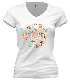The World of Tea - A Whimsical Look at the Global Reach of the Great British Cuppa - Est Ship Date March 17th - Anglotees