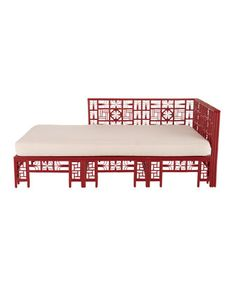"Shop ""Dallan"" Daybed from Red Egg at Horchow, where you'll find new lower shipping on hundreds of home furnishings and gifts. Rattan Daybed, Daybed Bedding, Black Dining Room Chairs, Dining Bench, Natural Cushions, Asian Interior, Chinese Furniture, Chinoiserie Chic, Bed Furniture"