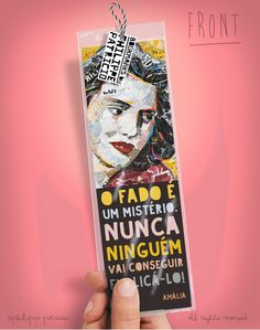 BOOKMARK // AMÁLIA RODRIGUES  (6 x 20cm) small edition by the artist // ©philippe patricio / all rights reserved