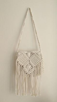 ON SALE Handmade macrame hand bag Boho hand bag Medium by WallKnot