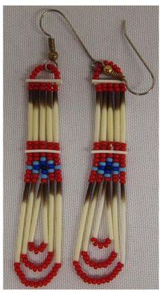 Native Beading Patterns, Beaded Earrings Patterns, Native Beadwork, Bracelet Patterns, Indian Beadwork, Loom Patterns, Seed Bead Necklace, Seed Bead Jewelry, Beaded Jewelry