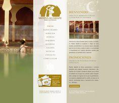 Diseño página web página principal baños Medina Aljarafe